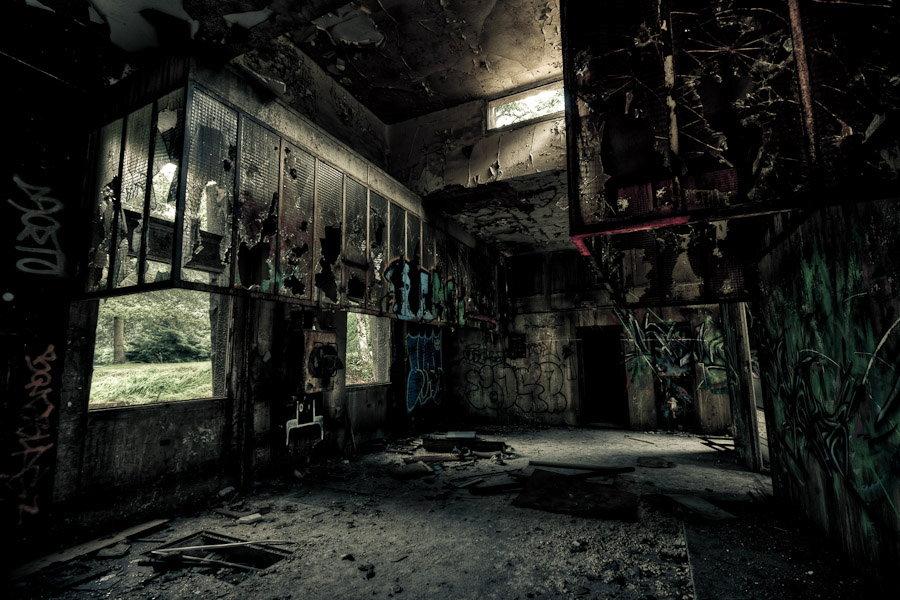 Les anciennes cuisines du sanatorium - Photographie de Sylvain Mary