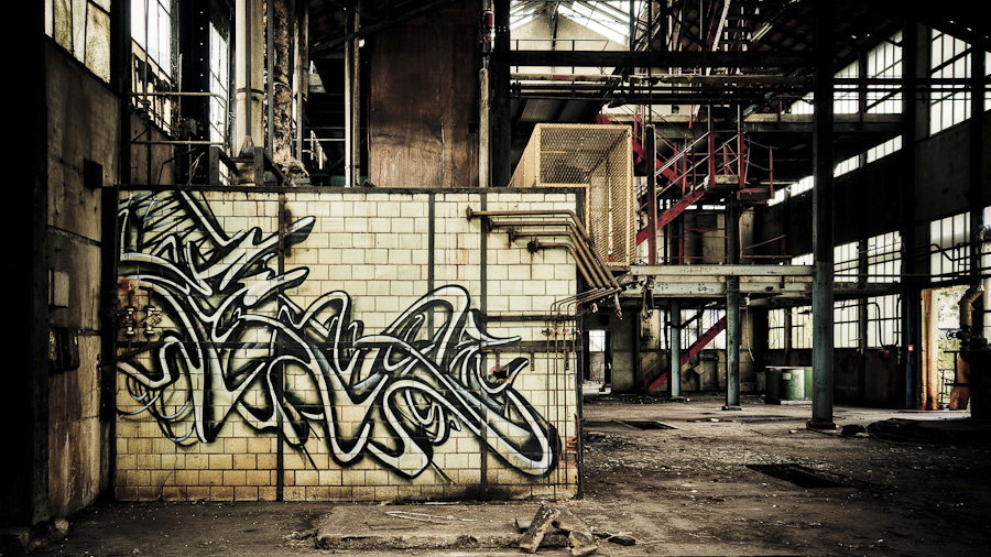 Photo Graff dans l'usine Yorkshire - Usine Yorkshire